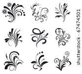 set of floral design elements.... | Shutterstock .eps vector #67474501
