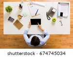 business  people and technology ... | Shutterstock . vector #674745034