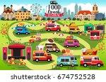 a vector illustration of food... | Shutterstock .eps vector #674752528