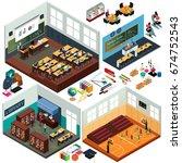a vector illustration of... | Shutterstock .eps vector #674752543