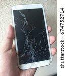 mobile phone screen broken ...   Shutterstock . vector #674752714