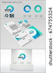 business corporate identity... | Shutterstock .eps vector #674755324