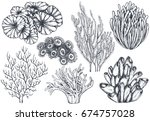 vector collection of hand drawn ... | Shutterstock .eps vector #674757028