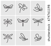 dragonfly icons | Shutterstock .eps vector #674761198