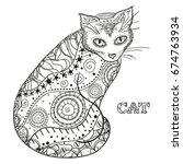 cat. design zentangle. hand...   Shutterstock .eps vector #674763934