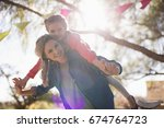 portrait of mother and daughter ... | Shutterstock . vector #674764723