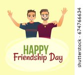 happy friendship day greeting... | Shutterstock .eps vector #674766634