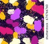 grunge splatter pattern. paint... | Shutterstock .eps vector #674766760