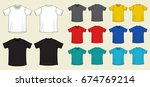 set of templates colored t... | Shutterstock .eps vector #674769214