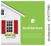 elements of architecture... | Shutterstock .eps vector #674777980