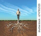 image of a man that has taken... | Shutterstock . vector #674781520