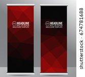 red roll up business brochure...   Shutterstock .eps vector #674781688