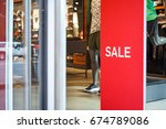 """sign """"sale"""" at the entrance to... 