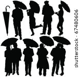 People With Umbrella...