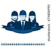 engineering team. flat avatars... | Shutterstock .eps vector #674806990