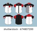 short sleeve shirt 8 | Shutterstock .eps vector #674807200