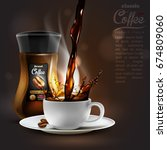 coffee advertising design  with ... | Shutterstock .eps vector #674809060