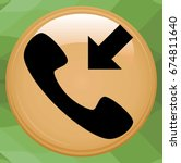 incoming call icon. active...