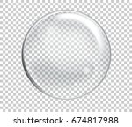 raster soap water bubbles.... | Shutterstock . vector #674817988