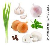 vegetables realistic...   Shutterstock .eps vector #674821663