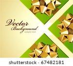 wedding or birthday green gift... | Shutterstock .eps vector #67482181