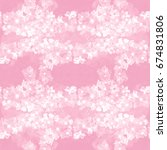 seamless pattern. flowers and... | Shutterstock . vector #674831806