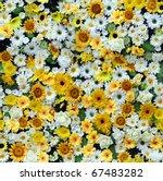 Yellow White Paper Flowers...