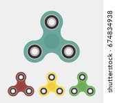 set of spinners. children's toy.... | Shutterstock .eps vector #674834938