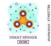 buy hand spinner toy in flat...   Shutterstock .eps vector #674837788
