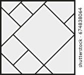 vector frames photo collage | Shutterstock .eps vector #674838064