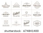 set of raster bakery pastry... | Shutterstock . vector #674841400