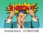 awesome businessman two like... | Shutterstock . vector #674841538