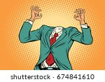 mock up businessman without a... | Shutterstock . vector #674841610