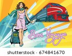 railroad passenger train  bon... | Shutterstock . vector #674841670