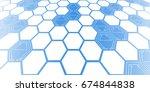 futuristic geometric background | Shutterstock .eps vector #674844838