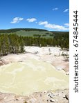 Small photo of Sulphur Caldron, Yellowstone National Park, is at the edge of one of the most active areas of the parks buried volcano, filling the caldron with sulfuric acid.