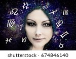 female astrology | Shutterstock . vector #674846140