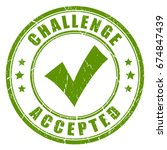 challenge accepted rubber stamp ... | Shutterstock .eps vector #674847439