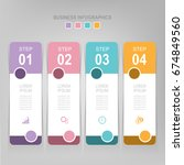 infographic template of four... | Shutterstock .eps vector #674849560