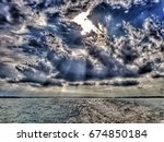 dramatic rain clouds few... | Shutterstock . vector #674850184