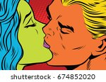 female alien and male mutant... | Shutterstock . vector #674852020
