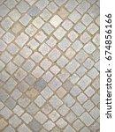cobbled stone road regular...   Shutterstock . vector #674856166