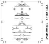 set of calligraphic element.... | Shutterstock .eps vector #674857366