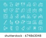 set vector line icons  sign and ... | Shutterstock .eps vector #674863048