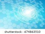 technology circle  technology  ... | Shutterstock .eps vector #674863510