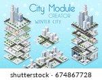 city module creator isometric... | Shutterstock .eps vector #674867728
