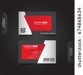 modern corporate business cards ... | Shutterstock .eps vector #674868634