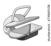 press for ironing linen. dry... | Shutterstock .eps vector #674869108