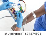 hands of nurse organizing...   Shutterstock . vector #674874976
