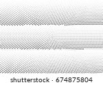 abstract halftone dotted... | Shutterstock .eps vector #674875804